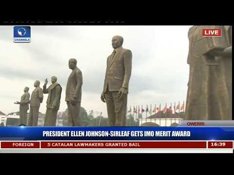 President Ellen Johnson-Sirleaf Gets Imo Merit Award Pt.6