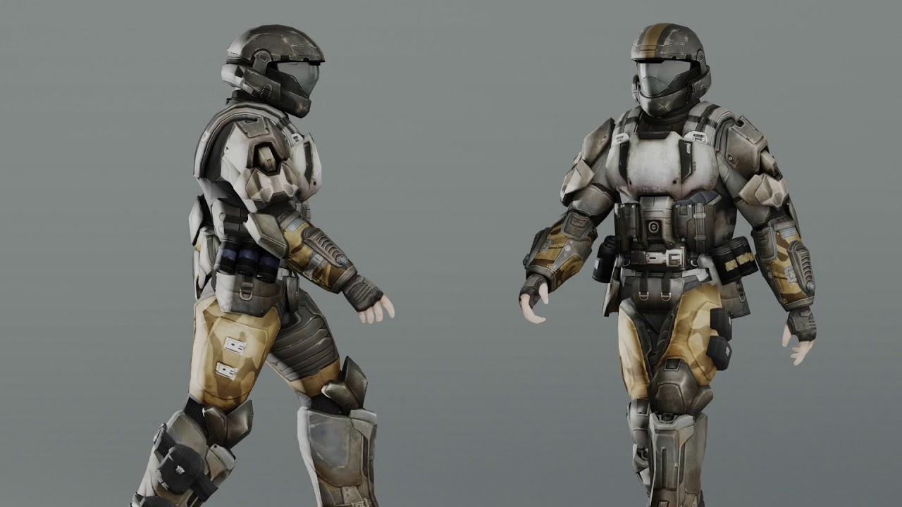 My Walk Cycle Animation - Bungie's ODST Model