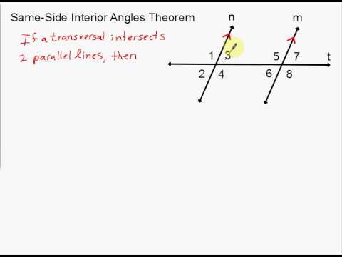 Attractive Alternate Exterior Angles Theorem And Same Side Interior Angles Theorem