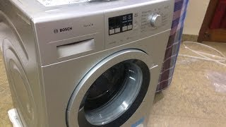 Unboxing BOSCH WAK24168IN 7KG Fully Automatic Front Loading Washing Machine