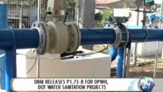 NewsLife: DBM releases P1.73-B for DPWH, DOT water sanitation projects || July 9, 2014