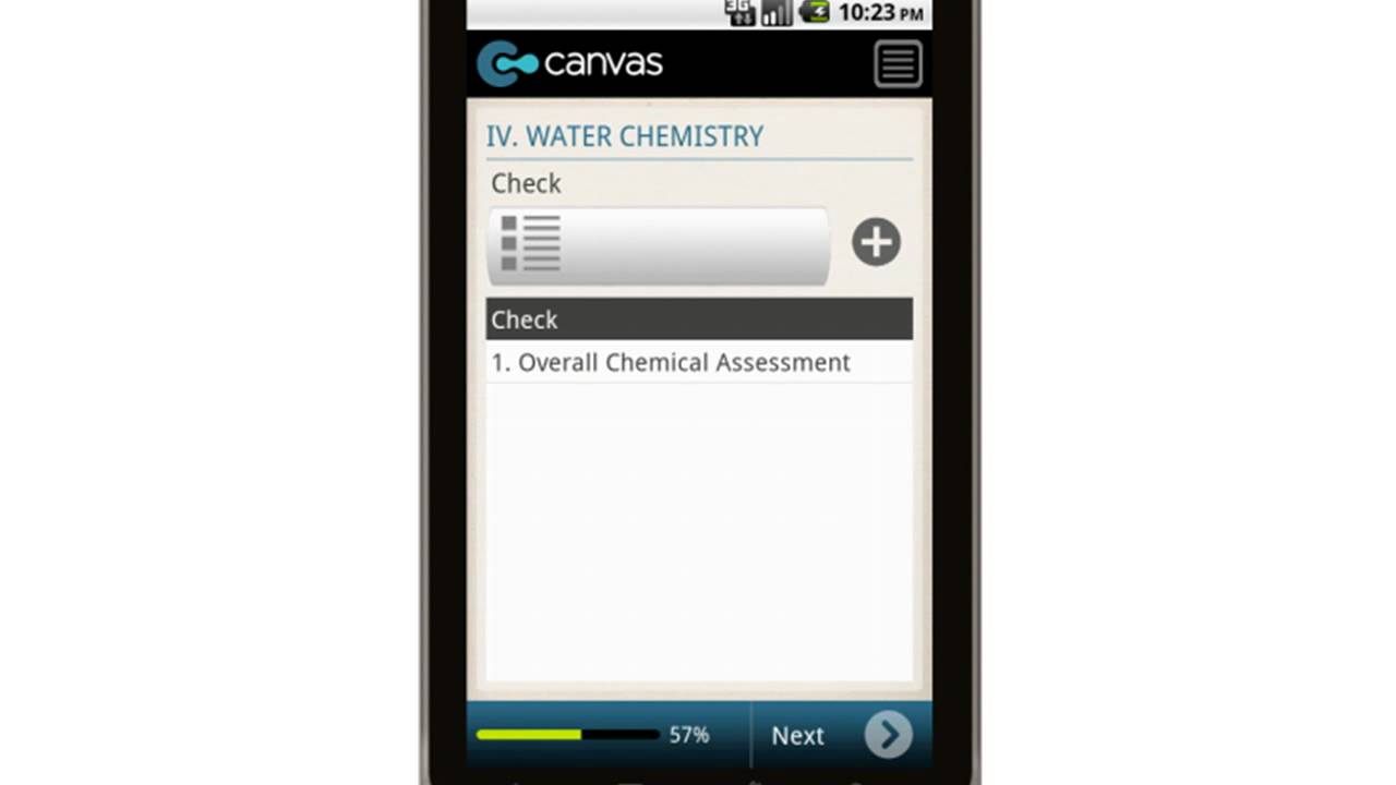 Canvas residential swimming pool inspection report mobile app youtube for Residential swimming pool inspection