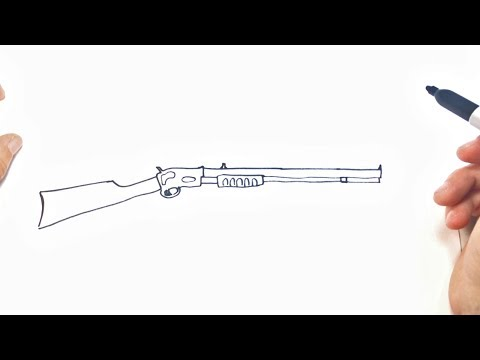 How to draw a Rifle | Rifle Easy Draw Tutorial