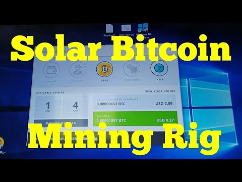 Real Solar Powered Bitcoin Ethereum Mining Rig Off Grid Home Cryptocurrency