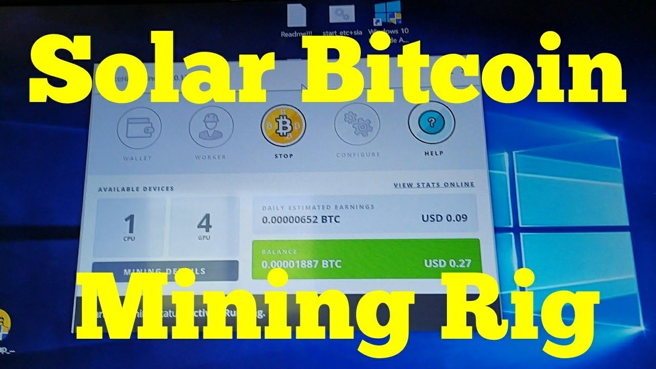 Real Solar Powered Bitcoin Ethereum Mining Rig Off Grid