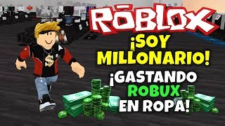 ROBLOX: I'm a MILLION! SPENDING ROBUX ON CLOTHES!