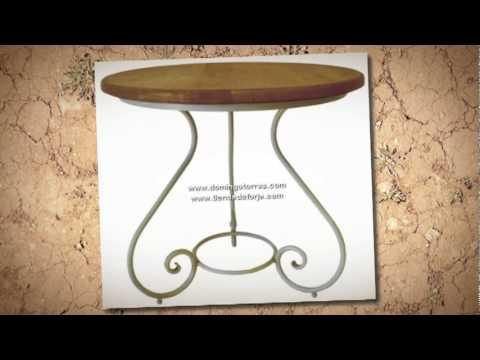 Mesas y sillas de forja artística - Domingo Torres, S.L.