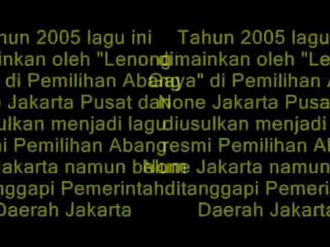 Lagu Pemilihan Abang None Jakarta
