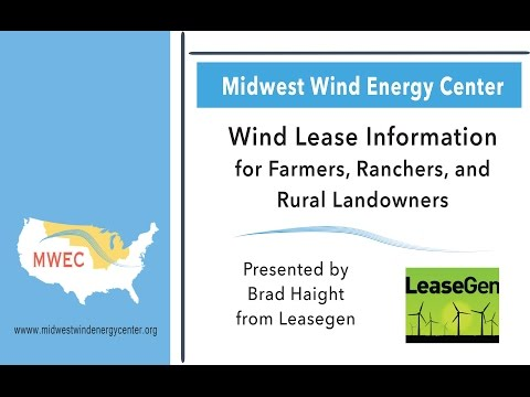 Wind Energy Lease Value Webinar