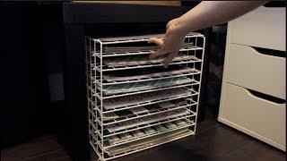 TUTORIAL 12x12 scrapbook paper storage using wire racks