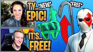 Fortnite Streamers REACT to NEW *FREE* Crystal Llama and FREE PICKAXE