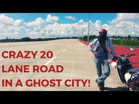 Crazy 20 lane road and bizarre airplane cafe in an abandoned city | Naypyidaw, Myanmar