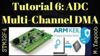 STM32F4 Discovery board - Keil 5 IDE with CubeMX: Tutorial 6 ADC Multi channels - Updated Nov 2017