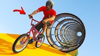 GTA V Online: TRIALS DE BMX em um TÚNEL DE FERRO!!! (PRIMEIRO de 2020)