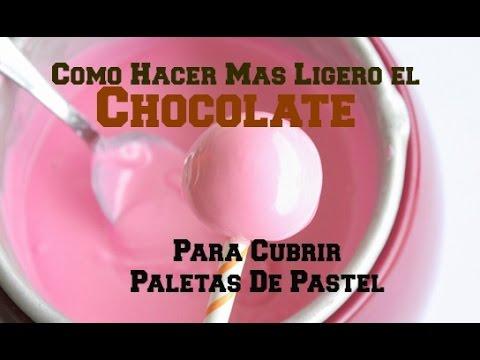 Como Derretir Chocolate Para Cubrir Cake Pops