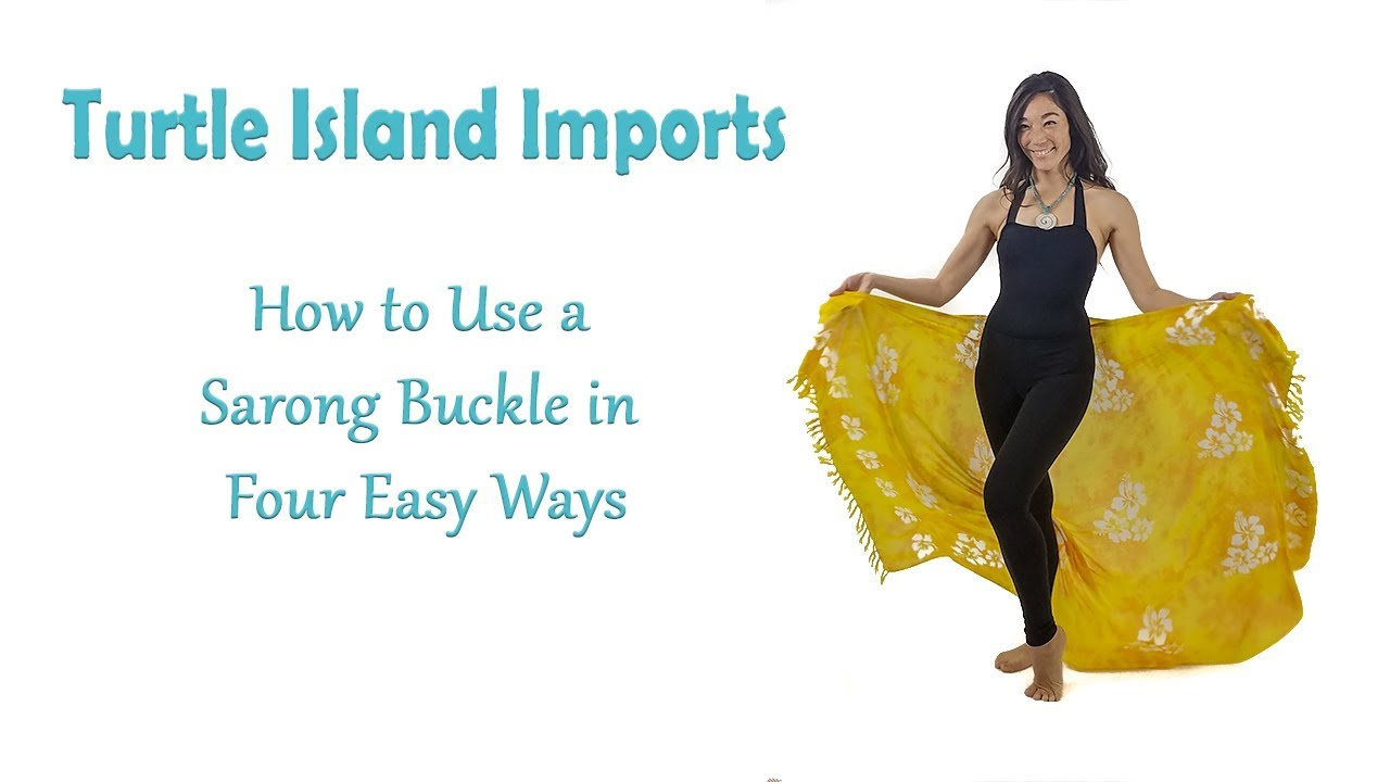 afa161db454c3 How to Use a Sarong Buckle in Four Easy Ways - YouTube