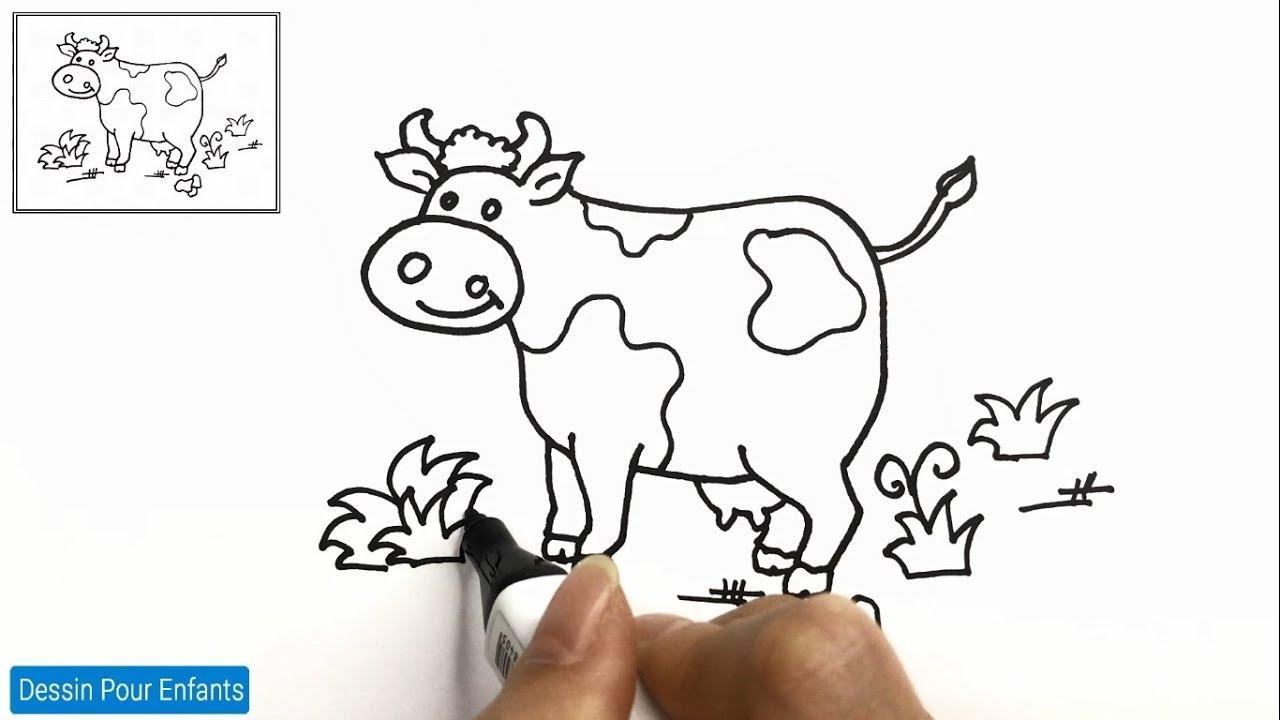 Comment Dessiner Une Vache Facilement Etape Par Etape 12 Dessin Vache Youtube