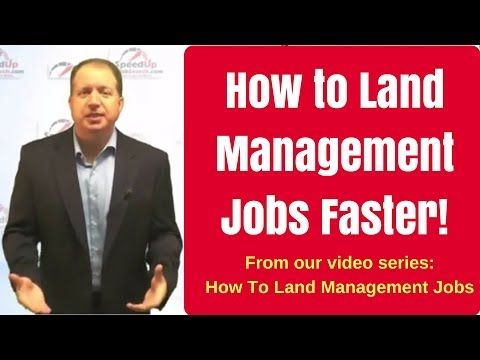 How to Land Management Jobs Faster - Part 1 - THE Most important ingredient