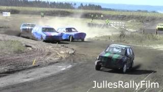 Höstrejset 2013 - Folkrace Ripa - Med Rullningar Och Avåk - Stock Car Racing With Crashes