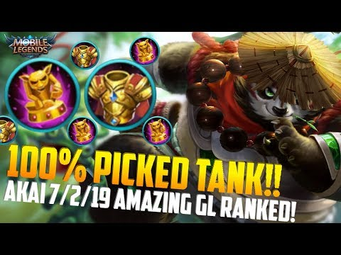 YOU WILL PICK AKAI IN RANK AFTER SEEING THIS! MOBILE LEGENDS AKAI INSANE GL RANKED GAMEPLAY