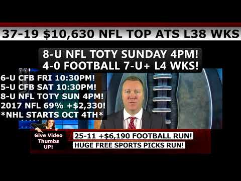 FREE COLLEGE FOOTBALL PICKS – Expert NCAA Football Predictions Against The Spread 9/30/17
