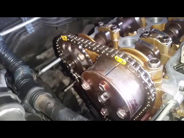 ??? ??? ?????? ??????  ?????? 2007  adjust timing belt toyota corolla engine 3zz