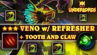 Cheeky ★★★ Venomancer + Refresher + Tooth \u0026 Claw | Dota Underlords