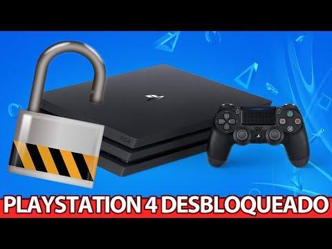 Playstation 4 DESBLOQUEADO e RODANDO jogo de Playstation 2