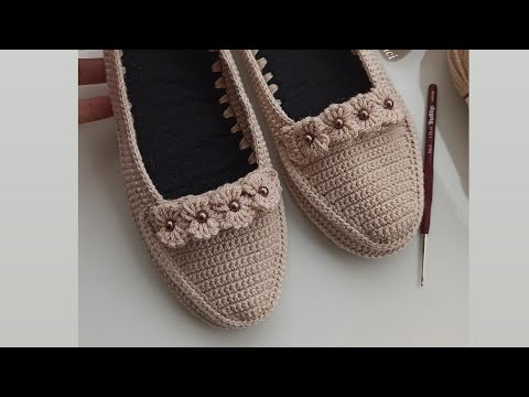 37_38 no keçe taban üzerine yeni model babetim #crochetshoes #pinterest #handmade