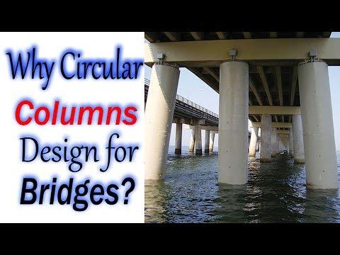 Why are Circular Column Design for bridges construction? - Civil Engineering Videos
