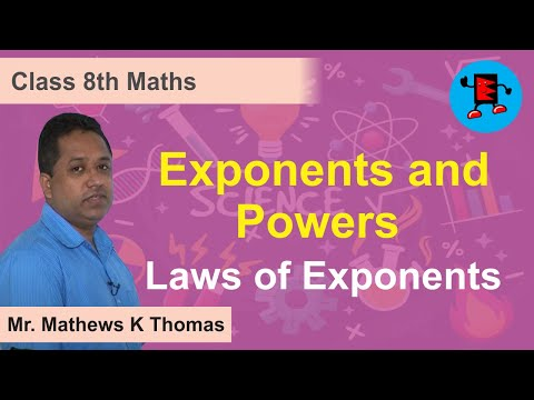 Class VIII-Math-Exponents and Powers