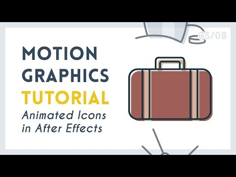 Intro to Motion Graphic Icons: Suitcase [5/8]   After Effects Tutorial