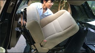 How To Remove Front SeatBelt Buckle Receiver & Seats On Honda Accord | DIY Auto Repair & Fix Guide