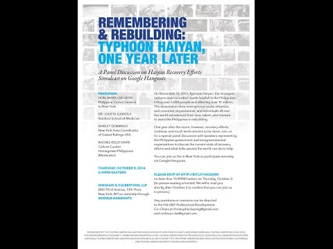 Remembering and Rebuilding: Haiyan, One Year Later