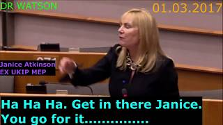 JANICE ATKINSON GIVES ULTIMATUM TO EU & SOROS LINKED MEP - WE WILL CHOOSE WHO COMES TO UK – NOT EU