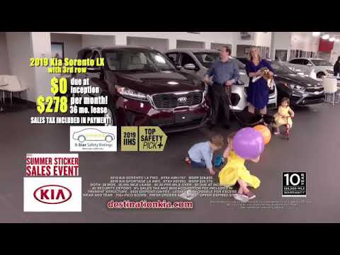 Cheapest Car To Lease With No Money Down >> No Money Down Lease Deals 2019 Sorento Sportage Destination