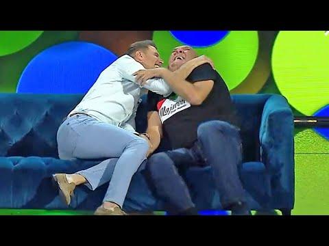 Joaquín y el Comandante Lara la lían con Bertín Osborne y El Sevilla en el mejor duelo de chistes