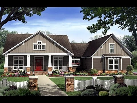 Craftsman house plan 59198 at youtube for Www familyhomeplans com