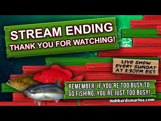 Sunday night 6/27/21 LIVE STREAM FISHING SHOW 8:30PM weekly! | https://HubbardsMarina.com