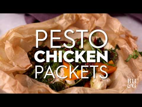 Pesto Chicken Packets | Fat & Fresh | Better Homes & Gardens