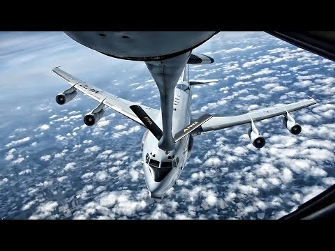 Pennsylvania Air National Guard Refuels NATO E-3A AWACS