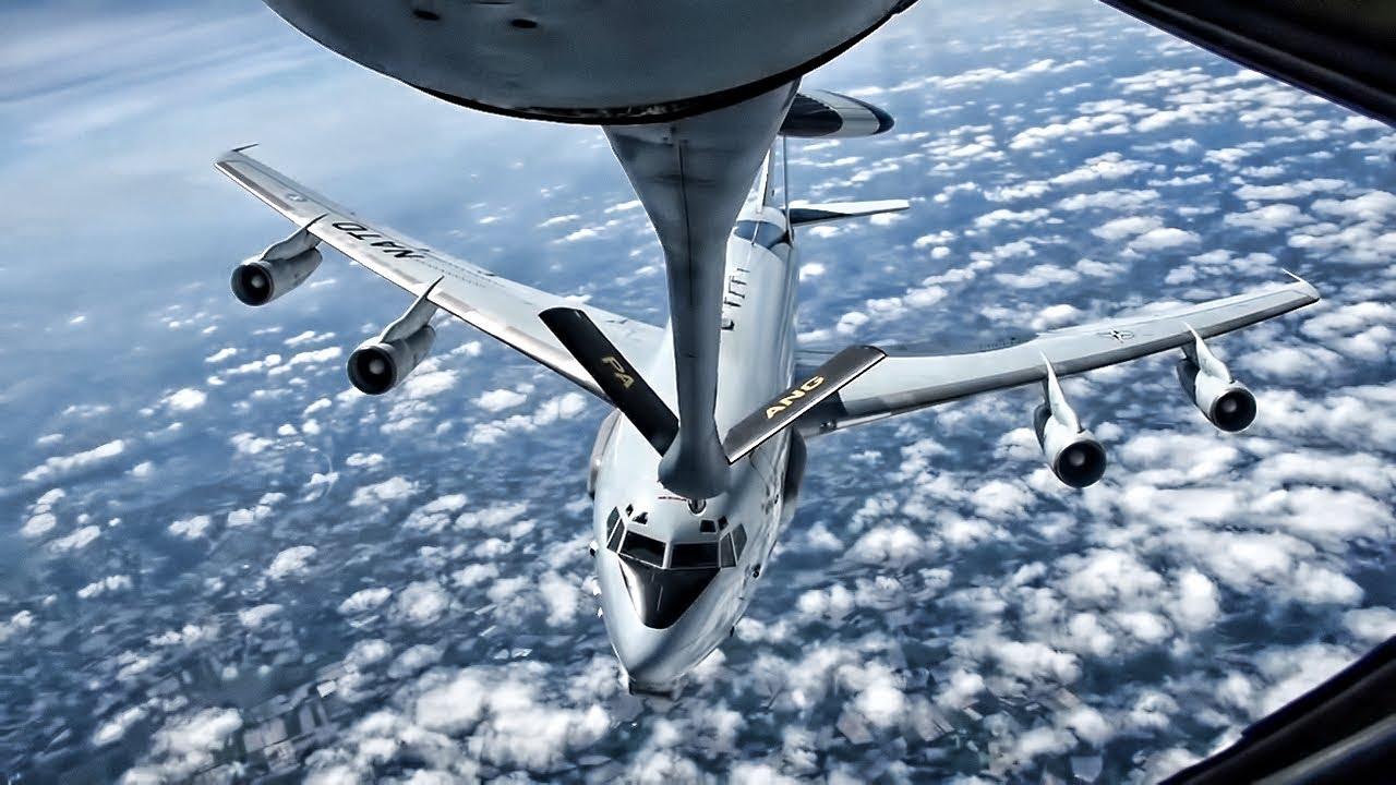 Pennsylvania Air National Guard Refuels NATO E-3A AWACS