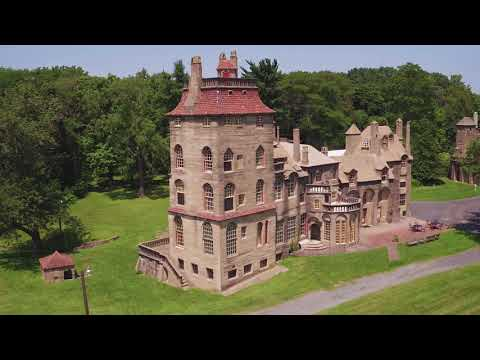 Aerial footage of Fonthill Castle