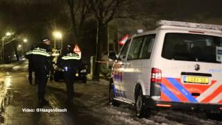 29-01-2015: Politie doet onderzoek in woning NOS-gijzelaar - Nieuwkoopseweg, Pijnacker