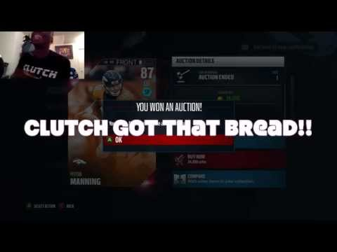 MUT16 - Elite Peyton Manning LIVE Purchase - 34K Straight Cash plus How to Get MUT Coin Advice!!!