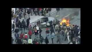 Spain Barcelona General Strike 29/3/2012