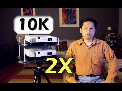 DIY cheap way to build 10,000 lumens large venues projector
