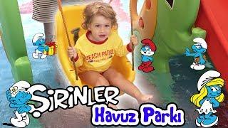 Noa Şirinler Havuz Parkında - Fame Residence | Bizim Aile Eğlenceli Çocuk Videoları