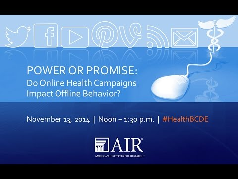 Power or Promise: Do Online Health Campaigns Impact Offline Behavior?