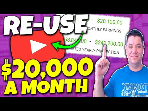 RE-USE Videos and Earn $20,000/Mo | How To Make Money on YouTube WITHOUT Making Videos Yourself